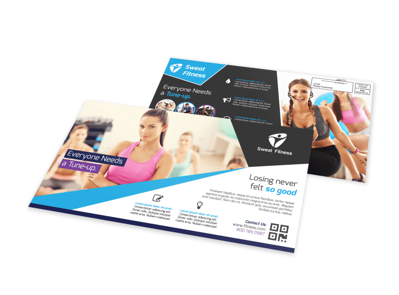 Elite Fitness EDDM Postcard Template Preview 1
