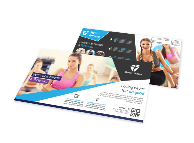 Elite Fitness EDDM Postcard Template Preview 4