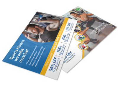 Sports Fitness Postcard Template preview