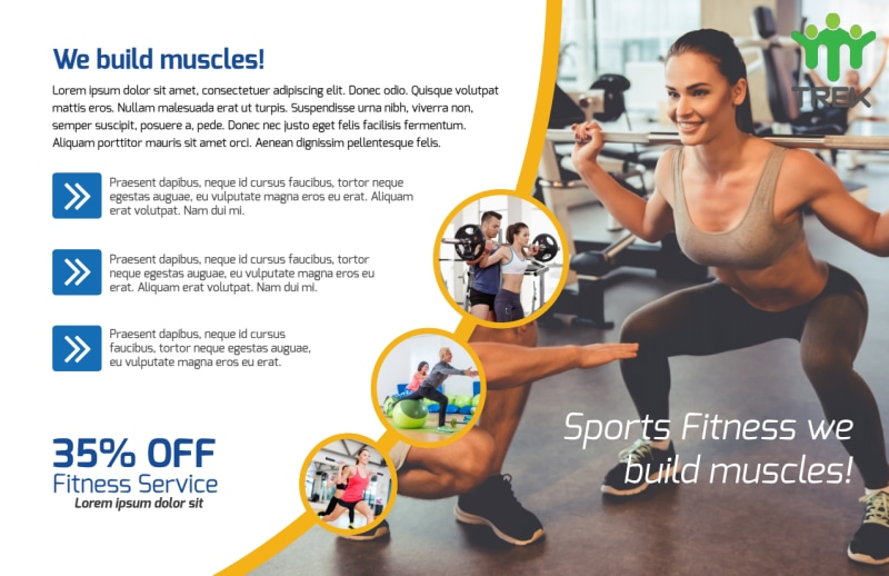 Sports Fitness Postcard Template Preview 3