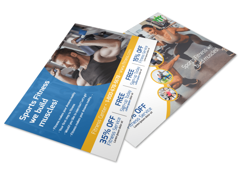 Sports Fitness Postcard Template Preview 1