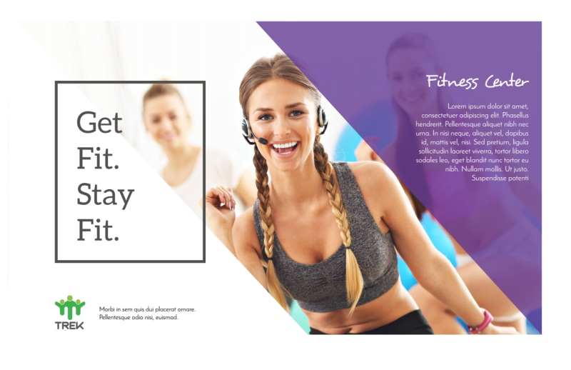 Clean Fitness Postcard Template Preview 2