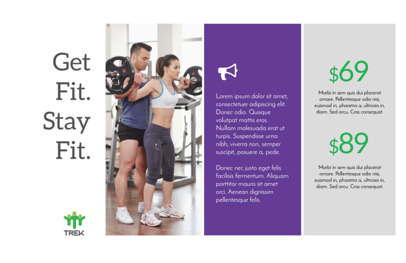 Clean Fitness Postcard Template Preview 3