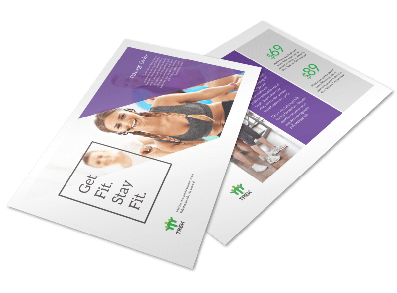 Clean Fitness Postcard Template Preview 1