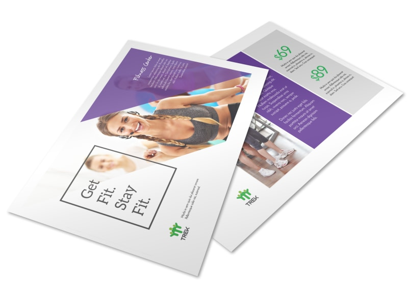 Clean Fitness Postcard Template