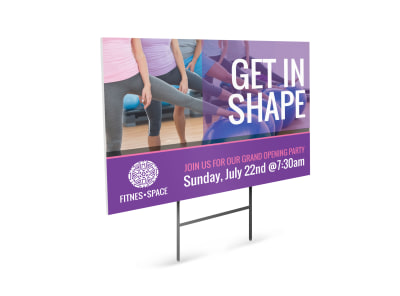Get In Shape Yard Sign Template preview