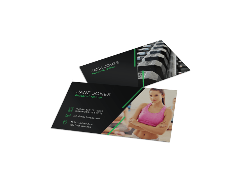 Black Fitness Business Card Template Preview 1