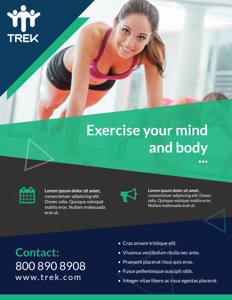 Body & Mind Gym Flyer Template Preview 2