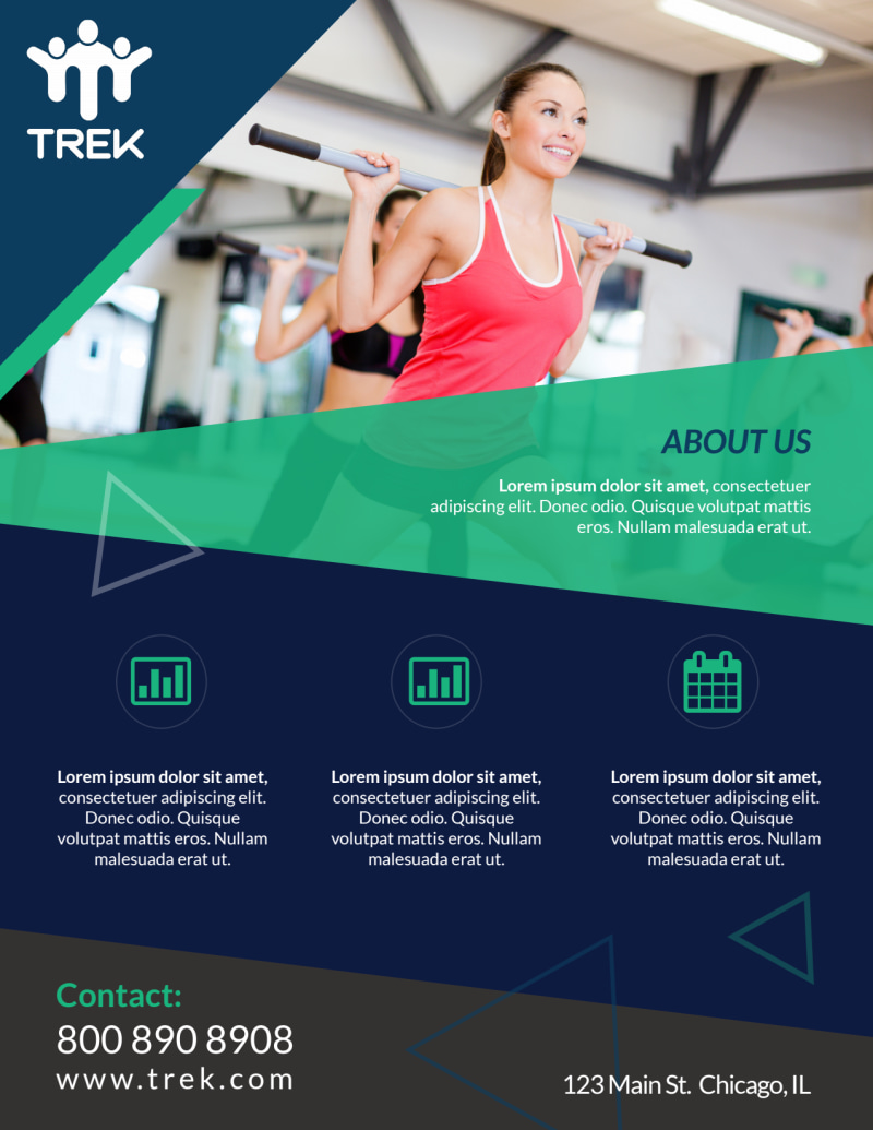 Body & Mind Gym Flyer Template Preview 3