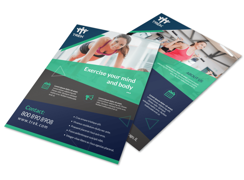 Body & Mind Gym Flyer Template Preview 1