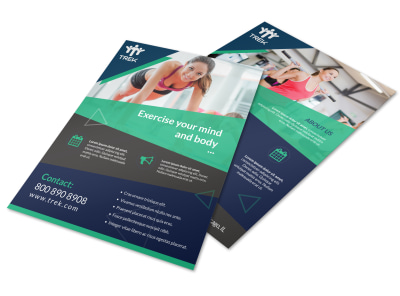 Body & Mind Gym Flyer Template preview