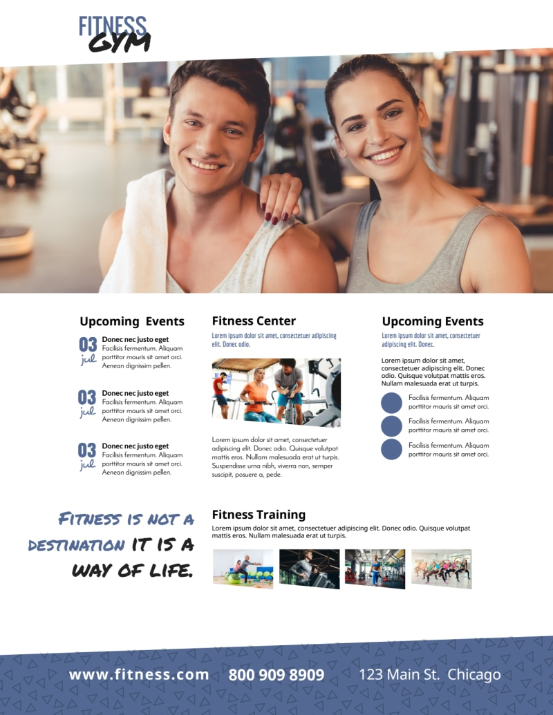 Beautiful Gym Flyer Template Preview 2