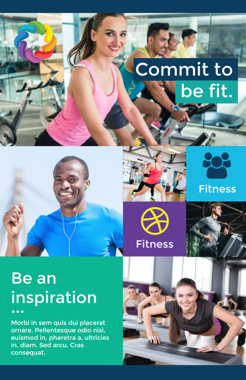 Be Fit Gym Flyer Template Preview 2