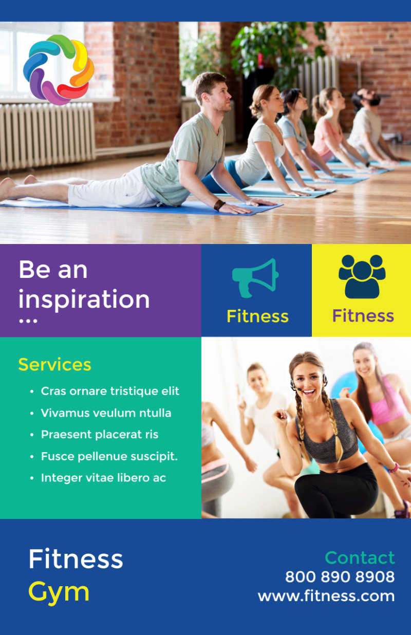 Be Fit Gym Flyer Template Preview 3