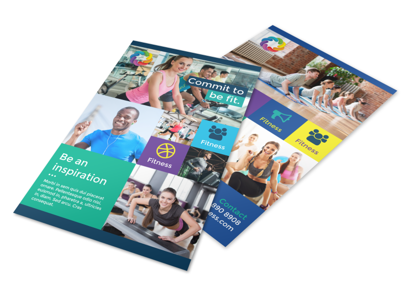 Be Fit Gym Flyer Template Preview 1