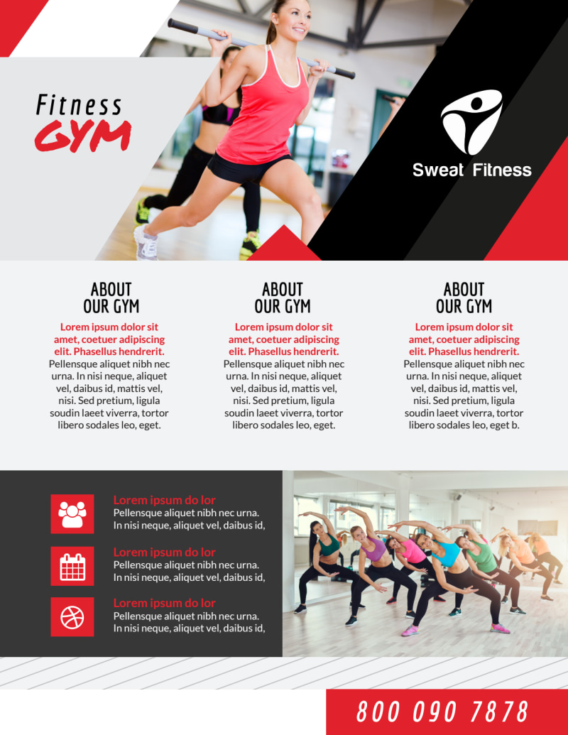 Awesome Fitness Gym Flyer Template Preview 2