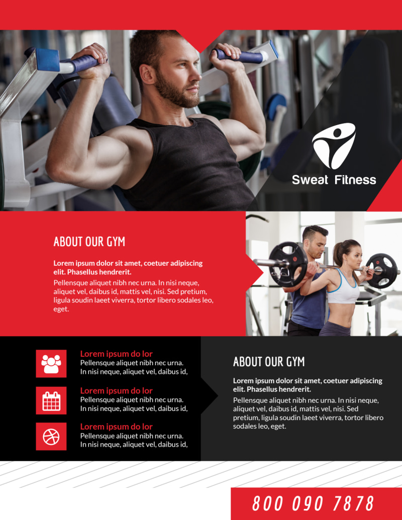 Awesome Fitness Gym Flyer Template Preview 3