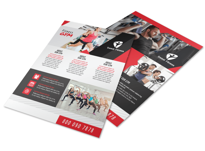 Awesome Fitness Gym Flyer Template Preview 1