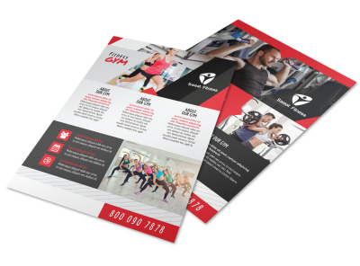 Awesome Fitness Gym Flyer Template preview