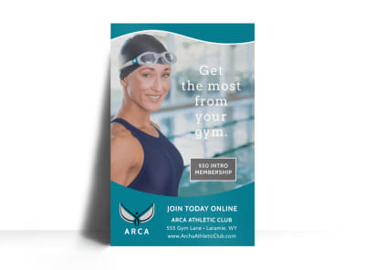 Gym Join Today Poster Template preview