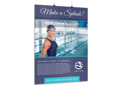 Swim Class Poster Template preview