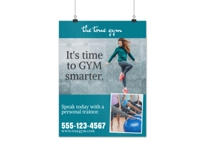 Gym Smarter Poster Template preview