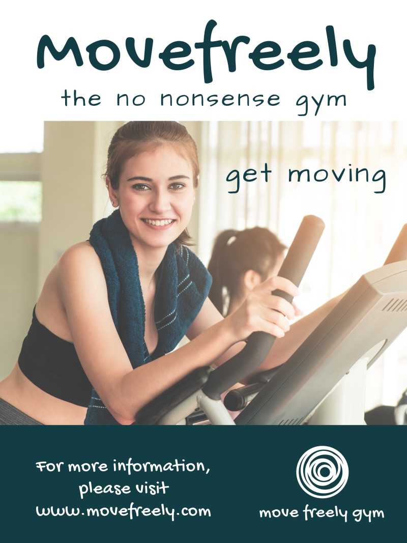 No Nonsense Gym Poster Template Preview 2