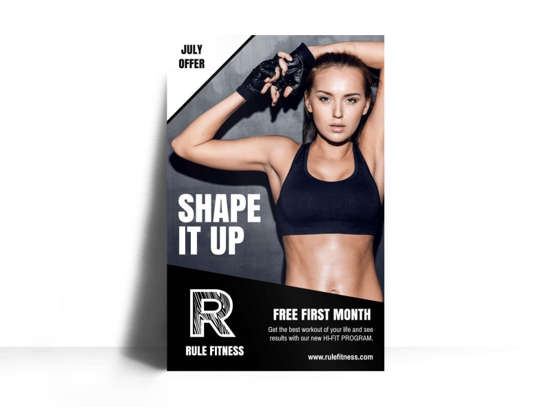 Gym Promotional Poster Template
