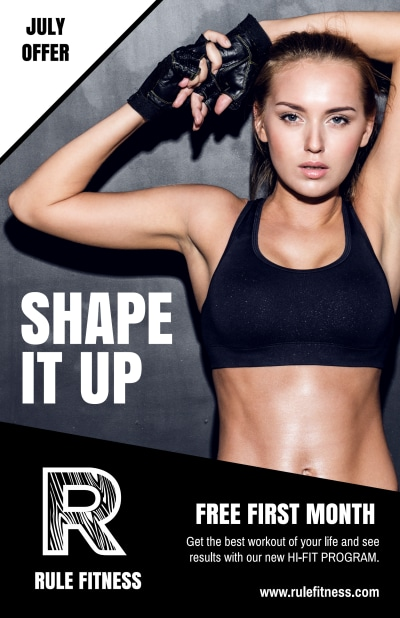 Gym Promotional Poster Template Preview 1