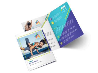 Beautiful Gym Bi-Fold Brochure Template preview