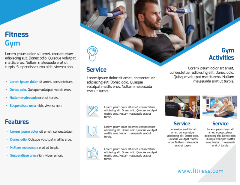 Edge Fitness Gym Tri-Fold Brochure Template Preview 3