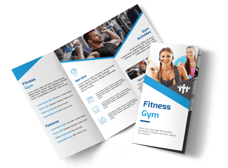 Edge Fitness Gym Tri-Fold Brochure Template Preview 1