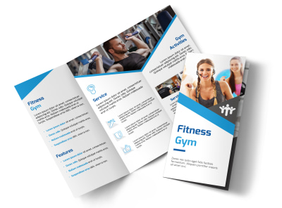 Edge Fitness Gym Tri-Fold Brochure Template preview