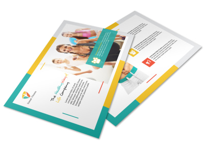 Healthy Gym Postcard Template preview
