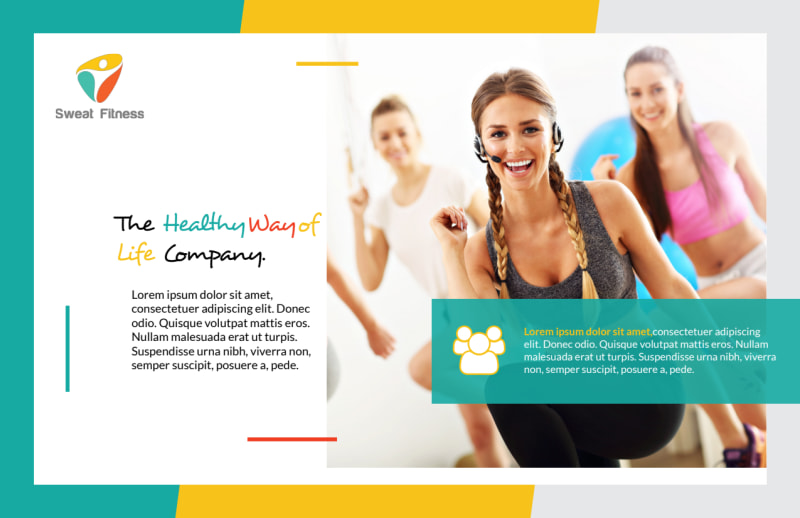 Healthy Gym Postcard Template Preview 2