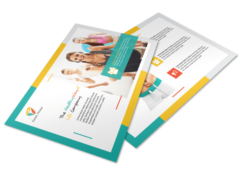 Healthy Gym Postcard Template Preview 1