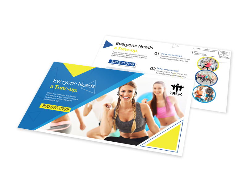 Gym Tune-Up EDDM Postcard Template Preview 4