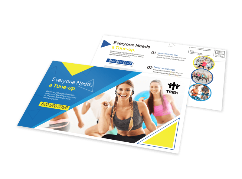 Gym Tune-Up EDDM Postcard Template Preview 1