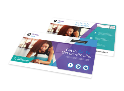 Gym Fit EDDM Postcard Template