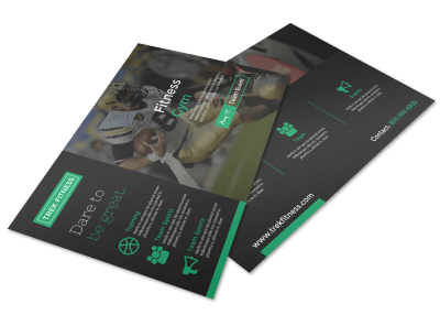 Gym Postcard Templates Template Preview