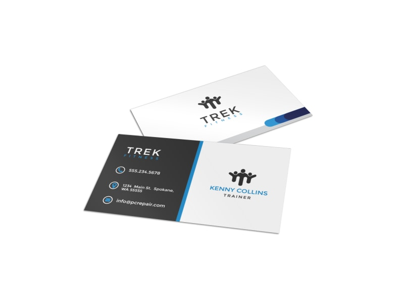 Black & Blue Gym Business Card Template