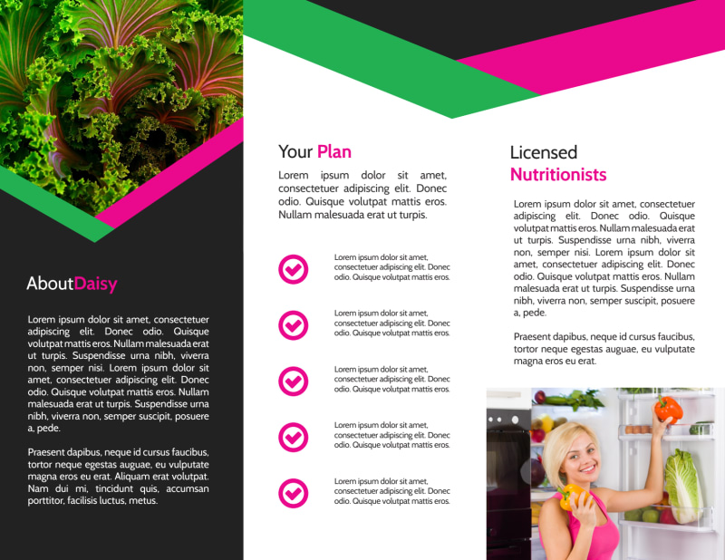Fun Nutrition Consultation Tri-Fold Brochure Template Preview 3