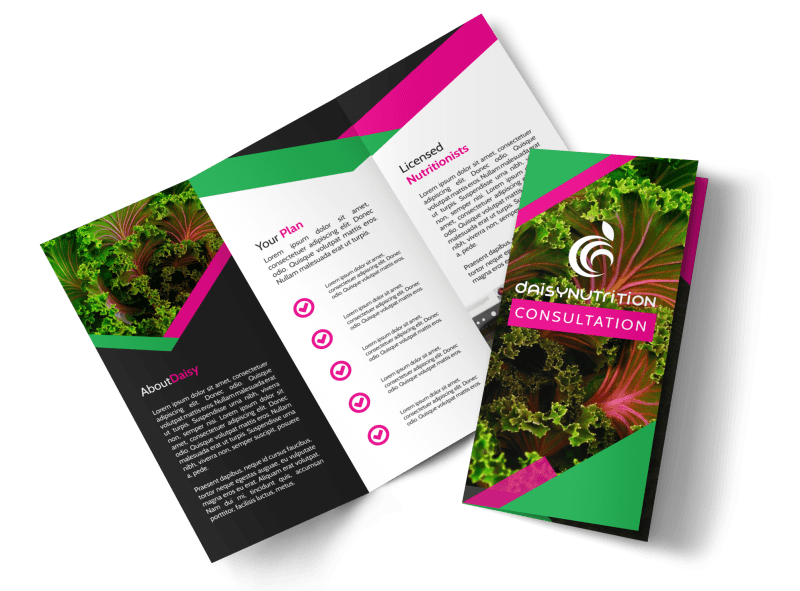 Fun Nutrition Consultation Tri-Fold Brochure Template Preview 1