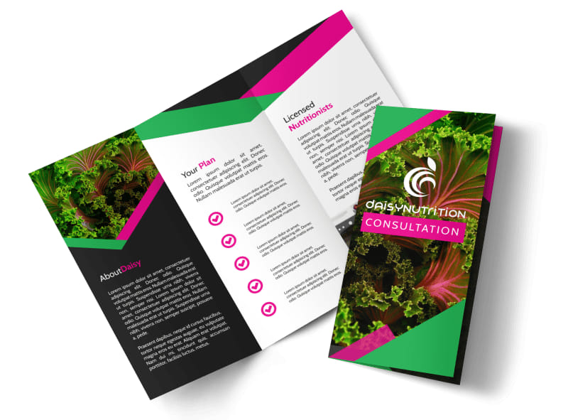 Fun Nutrition Consultation Tri-Fold Brochure Template Preview 4
