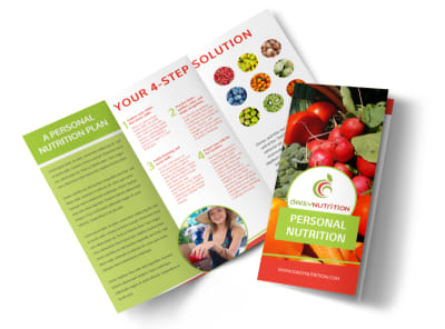 Nutrition Consultation Tri-Fold Brochure Template preview