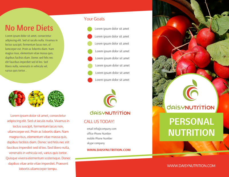 Nutrition Consultation Tri-Fold Brochure Template Preview 2