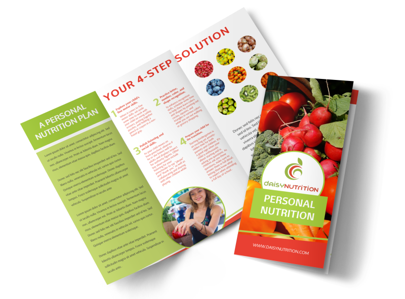 Nutrition Consultation Tri-Fold Brochure Template Preview 1