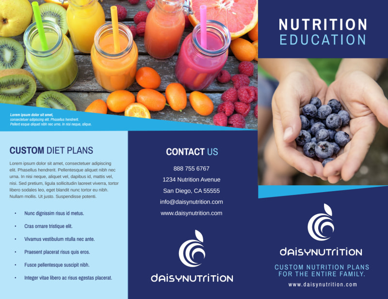 Awesome Nutrition Education Tri-Fold Brochure Template Preview 2