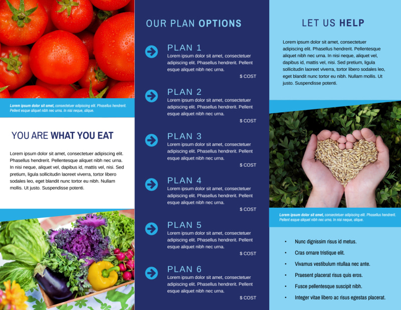Awesome Nutrition Education Tri-Fold Brochure Template Preview 3