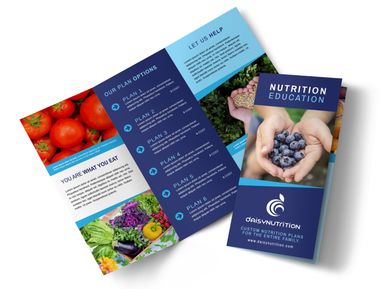 Awesome Nutrition Education Tri-Fold Brochure Template Preview 1